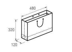 Горизонтальный бумажный пакет Г480x320x120