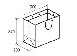 Горизонтальный бумажный пакет Г500x370x280