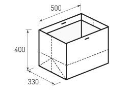 Горизонтальный бумажный пакет Г500x400x330