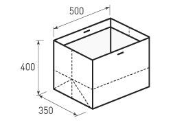 Горизонтальный бумажный пакет Г500x400x350