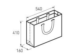Горизонтальный бумажный пакет Г540x410x160