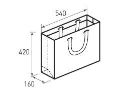 Горизонтальный бумажный пакет Г540x420x160