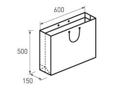 Горизонтальный бумажный пакет Г600x500x150