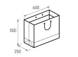 Горизонтальный бумажный пакет Г600x500x250