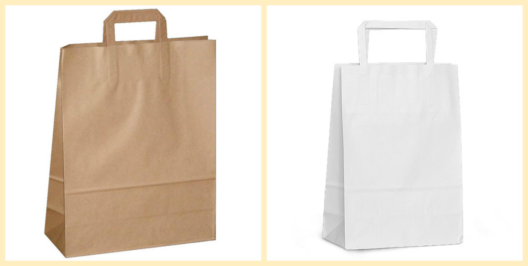 Совмещенное фото коричневого и белого пакета (фото 2)
