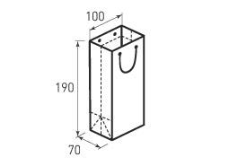 Вертикальный бумажный пакет В100x190x70