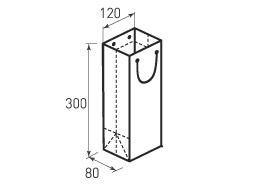 Вертикальный бумажный пакет В120x300x80