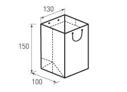 Вертикальный бумажный пакет В130x150x100