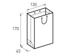 Вертикальный бумажный пакет В130x170x45