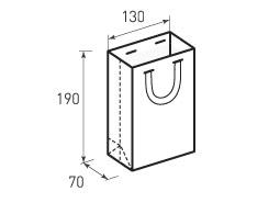 Вертикальный бумажный пакет В130x190x70