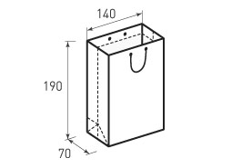 Вертикальный бумажный пакет В140x190x70