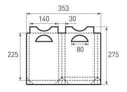 Вертикальный бумажный пакет В140x225x30