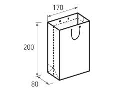 Вертикальный бумажный пакет В170x200x80