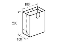 Вертикальный бумажный пакет В180x200x100