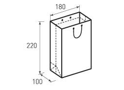Вертикальный бумажный пакет В180x220x100