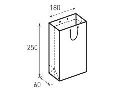 Вертикальный бумажный пакет В180x250x60