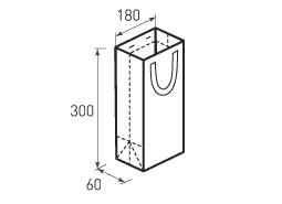 Вертикальный бумажный пакет В180x300x60