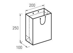 Вертикальный бумажный пакет В200x250x100
