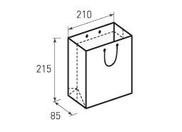Вертикальный бумажный пакет В210x215x85