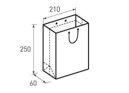 Вертикальный бумажный пакет В210x250x60