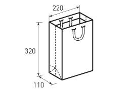 Вертикальный бумажный пакет В220x320x110