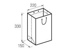 Вертикальный бумажный пакет В220x330x150