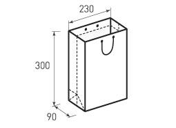 Вертикальный бумажный пакет В230x300x90