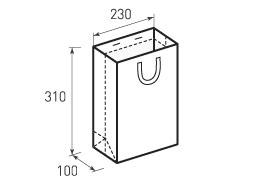 Вертикальный бумажный пакет В230x310x100