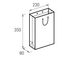 Вертикальный бумажный пакет В230x350x80