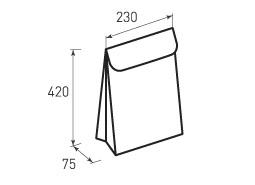 Вертикальный бумажный пакет В230x420x75