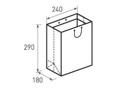Вертикальный бумажный пакет В240x290x180