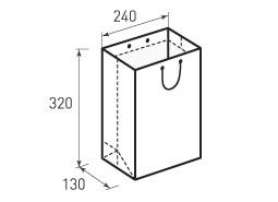 Вертикальный бумажный пакет В240x320x130