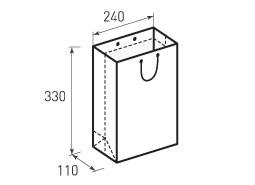 Вертикальный бумажный пакет В240x330x110