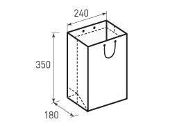 Вертикальный бумажный пакет В240x350x180