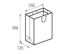 Вертикальный бумажный пакет В250x300x125