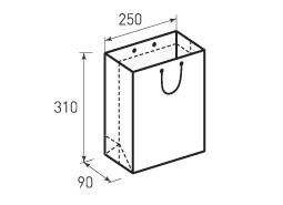 Вертикальный бумажный пакет В250x310x90