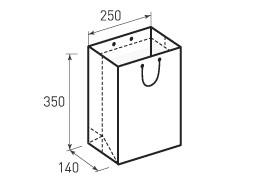 Вертикальный бумажный пакет В250x350x140