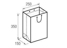 Вертикальный бумажный пакет В250x350x150