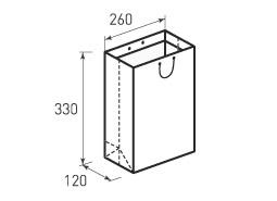 Вертикальный бумажный пакет В260x330x120