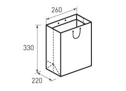 Вертикальный бумажный пакет В260x330x220