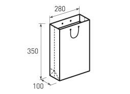 Вертикальный бумажный пакет В280x350x100