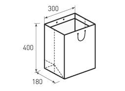 Вертикальный бумажный пакет В300x400x180