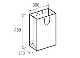 Вертикальный бумажный пакет В300x450x130