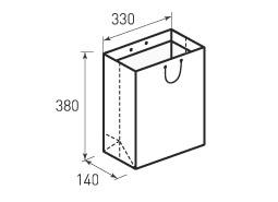 Вертикальный бумажный пакет В330x380x140