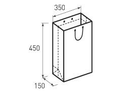 Вертикальный бумажный пакет В350x450x150