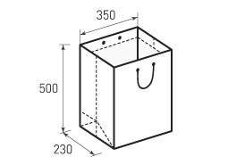 Вертикальный бумажный пакет В350x500x230