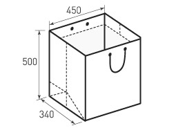 Вертикальный бумажный пакет V450-500-340