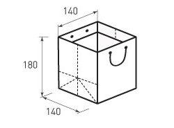 Вертикальный бумажный пакет В140x180x140