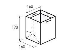 Вертикальный бумажный пакет В160x190x160