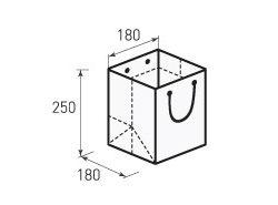 Вертикальный бумажный пакет В180x250x180